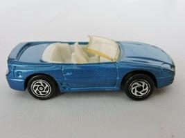 Matchbox Mitsubishi 3000 GT Spyder Blue Toy Convertible Car 094 Diecast 1990 - $8.49