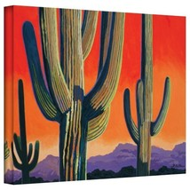 ArtWall Cactus Orange Gallery Wrapped Canvas Art by Rick Kersten, 24 by ... - $84.53