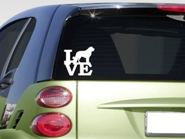 "Saint Bernard love 6"" STICKER F248 DECAL dog breed muzzle leash St. Bernard - $3.16"