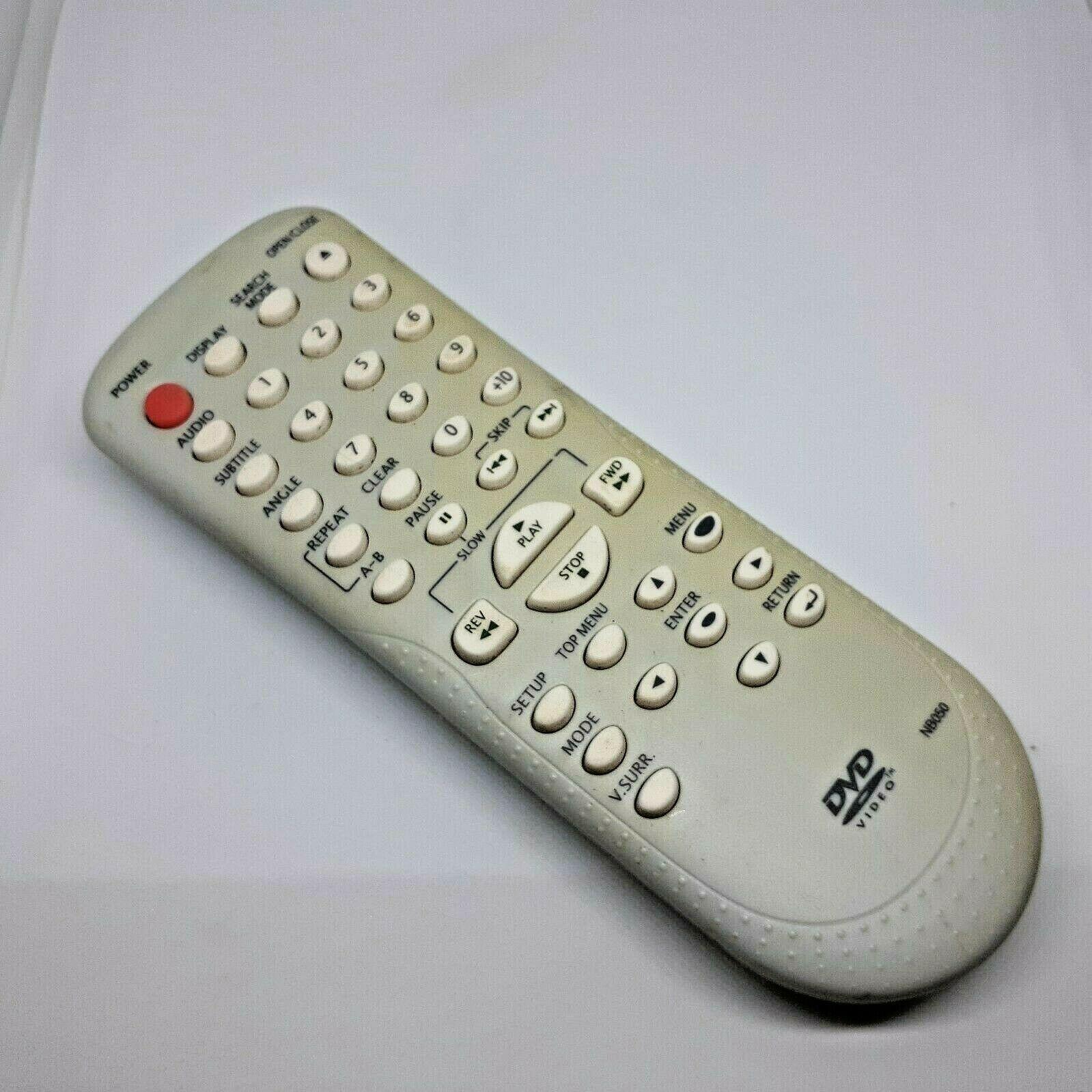 DVD Video Nb050 Remote Control Symphonic Funai Emerson Sylvania Magnavox-TESTED