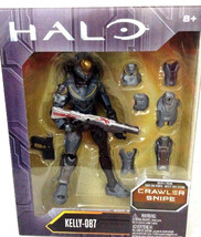 "Mattel HALO KELLY-087 CRAWLER SNIPE 6"" Figure NISB 8+ - $22.16"