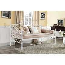 White Metal Daybed Frame Twin Full Bed Kids Bedroom Furniture Guest Dorm... - $153.35+