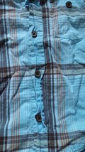 Gymboree Blue Plaid Short Sleeved Button Down Boys Size 12-18m shirt - $9.04