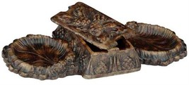 Tray Box Classic Acorns Pinecone Double Cast Resin New - $129.00
