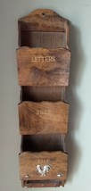 Vtg Wooden Hanging Letter Holder - $16.21