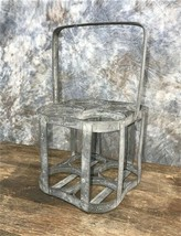 Rustic French Metal Wine Bottle Carrier with Handle, Wine Bottle Rack Caddy - $64.00