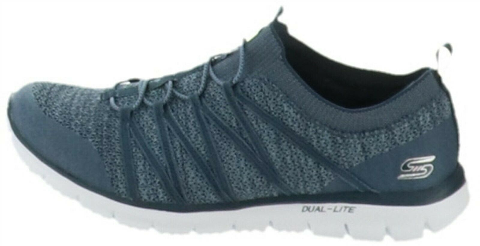 Primary image for Skechers Stretch-Knit Bungee Slip-On Sneakers Glider Tuneful Navy 10M NEW A34659