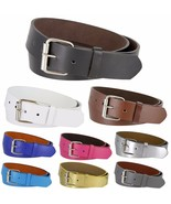 """B570 - Genuine Leather Casual Jean Belt Strap with Rollerbuckle, 1-1/2"""" ... - $6.23+"""