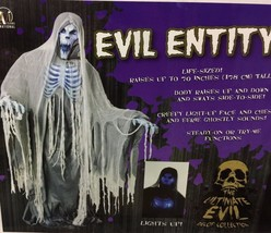 Lifesize 5FT EVIL ENTITY Animated Halloween Prop SEE VIDEO - €165,13 EUR