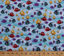 Cotton Tropical Fish Ocean Sea Water Aquatic Cotton Fabric Print By Yard... - $10.95