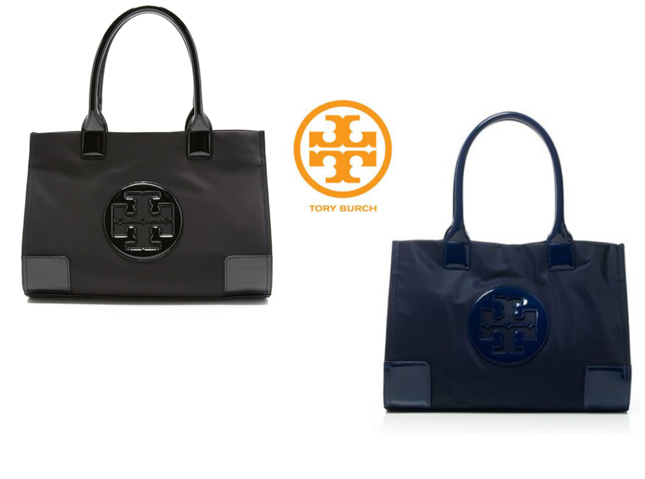 TORY BURCH Nylon Ella Tote Mini Size for Woman Bag with Free Gift ++