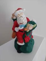 Nostalgic St. Nick Music Box Porcelain Figurine with Toy Bag - $10.00
