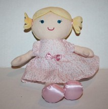 Carters Just One You BABY DOLL RATTLE Blonde Plush Pink Heart Dot Dress ... - $17.39
