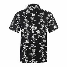 Men's Hawaiian Short Sleeve Aloha Floral Tropical Beach Party Button Up Shirt L