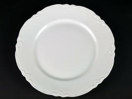 "Hutschenreuther Racine Dinner Plate, Antique All White Porcelain Bavaria 9 7/8"" - $17.15"