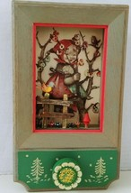 Anri Hummel Music Box GIGI Wall Plaque Thorens Swiss Movement 3D Vtg SEE VIDEO - $38.57