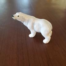 Vintage Polar Bear Figurine, Bone China, Delta Japan Animal Figurine, Bear Decor image 6