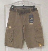 Lee Wyoming Belted Cargo Shorts Bourbon Boy's Sz 12R NWT MSRP$40 - $24.75