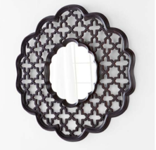 "NEW XL 42"" Round Anthropologie Style Moroccan Flower Carved Wall Mirror ... - £268.61 GBP"