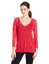 Calvin Klein Jeans Women's 3/4 SLV Fleck T-Shirt, Barberry, Small Item RB-13 - $23.28