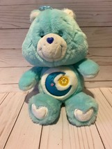 "Care Bears 2002 BEDTIME Bear 13"" Plush Toy[EUC] BLUE - $17.81"