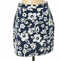 Tommy Hilfiger Floral Pencil Skirt ~ Size 4 (Small) Navy & White Career ... - $27.95