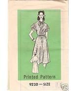 Printed Pattern 9220 Misses' Dress Size 14 - $1.75