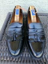 Bostonian FLORENTINE Tassel-Kiltie Loafers Mens Size 10W Black Leather Apron-Toe - $44.54