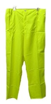 Men's High Visibility Safety Yellow 2XL Construction Polyester Pants New - $24.22