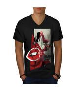 Lady Stylish Fashion Shirt Glamour Men V-Neck T-shirt - $12.99+