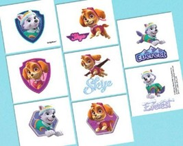 Paw Patrol Girl Pink Birthday Party 16 Tattoos Favors - €2,11 EUR