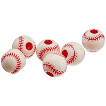 Darice B03-215Col Plastic Baseball Bead 12Mm 12Pc, Multicolor.. - $12.99