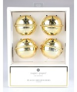 Set Of (4) Sugar Paper - Los Angeles - Gold Jingle Bell Placecard Holder... - $9.99