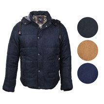 Maximos USA Men's Premium Multi Pocket Modern Floral Cotton Hooded Jacket EMMA-3