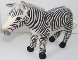 K&M International WILD REPUBLIC ZEBRA w/ POSABLE LEGS Stuffed Plush ANIM... - $31.18