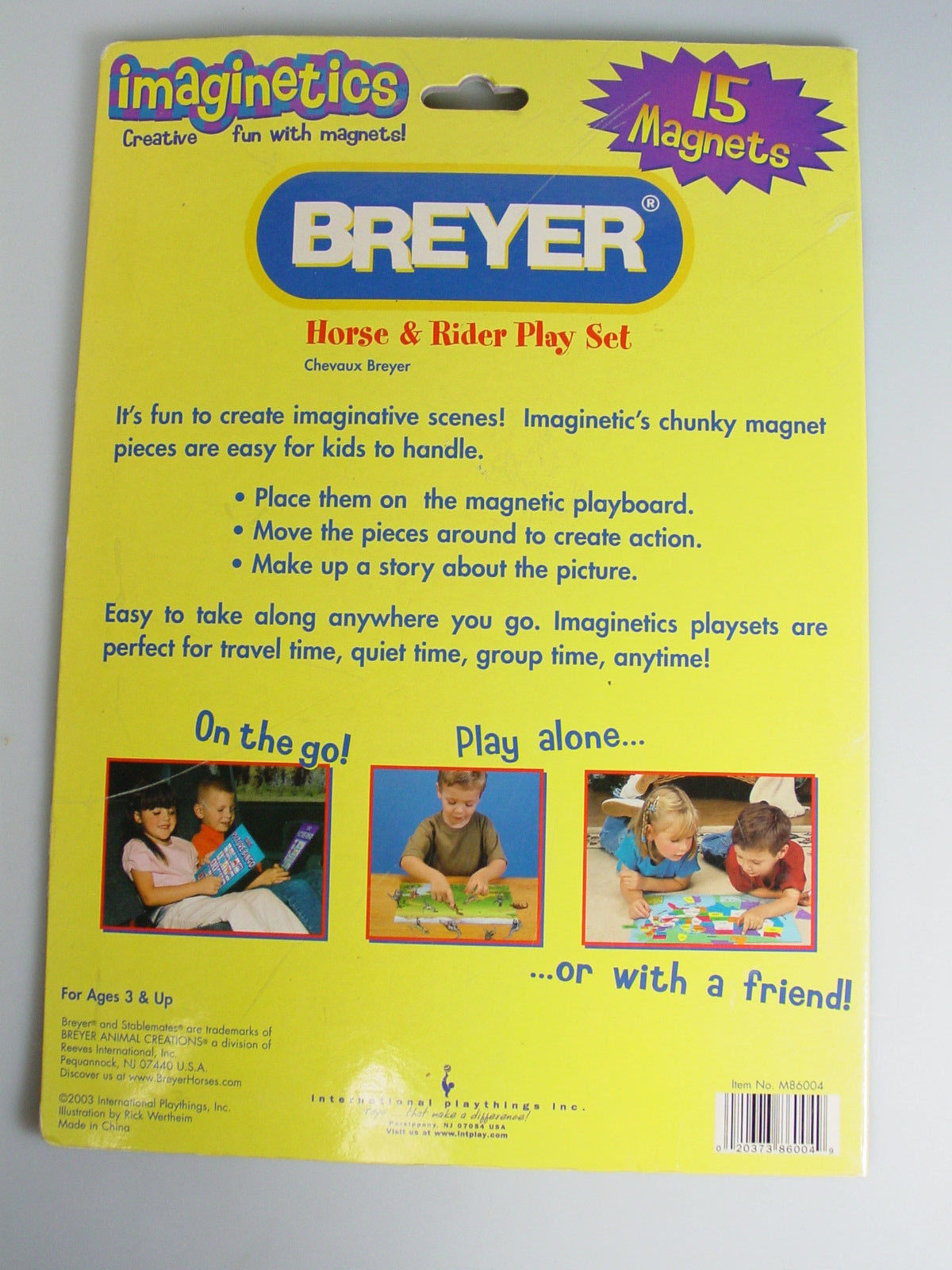 Breyer Horse Rider Magnets board booklet Play Set