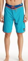 New with Tag - Quiksilver Loc Scallop Aqua Blue Board Shorts Size 30 - $17.81