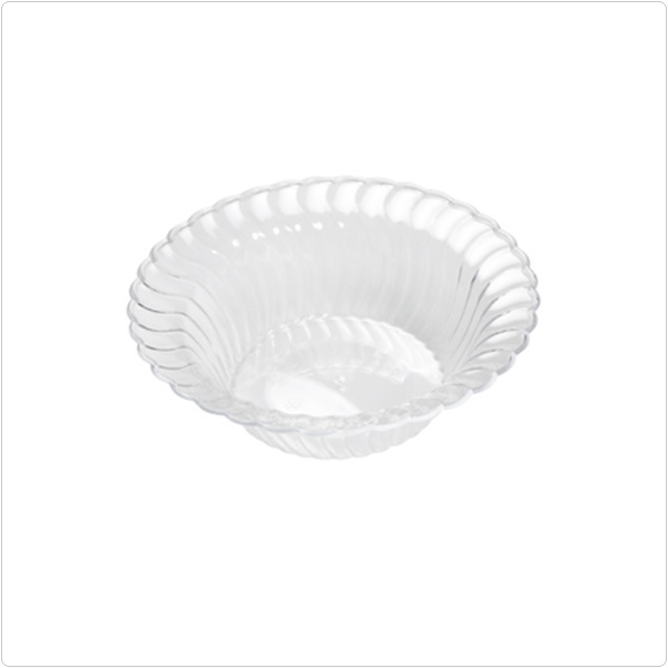 Clear Flairware 5 oz Plastic Bowls/Case of 180