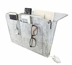 Gray Bedside Caddy, Felt Hanging Bedside Pocket, Bedside Storage Organizer  - $12.86