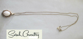 Vintage Sarah Coventry  Jewelry - #8334  Coral Angelskin Pendant - $23.17