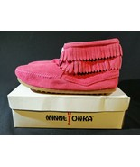 Minnetonka Moccasins Fringe Boots Pink Girls~ Size 4 - $19.79