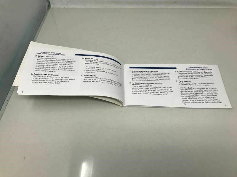 2005 Dodge Durango Owners Manual Case Handbook OEM Z0A252 image 6