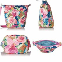 NWT Vera Bradley Carson Hobo Shoulder Crossbody Bag in Super Bloom 22543 - $84.15