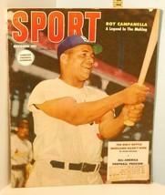 1953 October Sport Magazine - Roy Campanella Brooklyn Dodgers Cover - $17.82