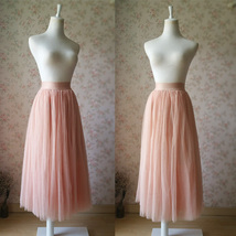 Blush Maxi Skirt and Top Set Elegant Wedding Bridesmaids Outfit NWT image 2