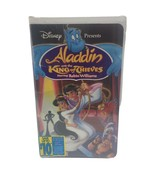 Aladdin and the King of Thieves VHS  New Sealed Disney Slight Shrink Wra... - $9.48