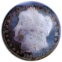 1884 O MS63 PL/PROOF LIKE  MORGAN SILVER DOLLAR  * RAINBOW TONING  * 007 - $171.50