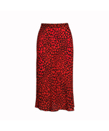 Realisation Par The Naomi in Sid Red-heart Print Silk Midi Skirt - $158.00