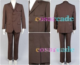 Who is Doctor Dr.Brown Pinstripe Business Suit Blazer+Pants Costume Cosplay Set - $85.99+
