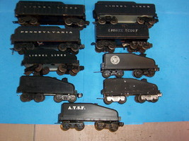 LIONEL Lot 9 Steam Engines Tenders PRR Lionel Scout A.T.S.F. Atlantic Co... - $39.99